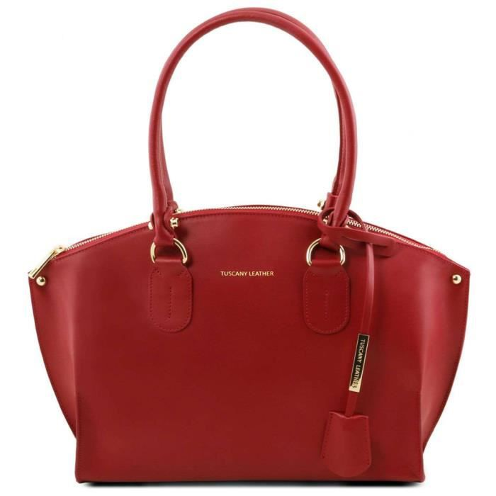 Sacs Tuscany Leather rouges gC82Idr