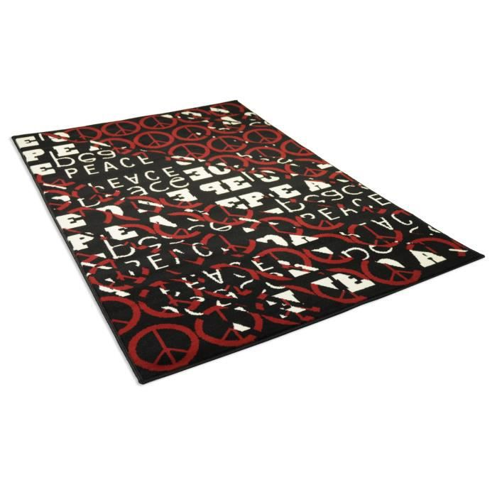 tapis salon peace love multicolor universol achat vente tapis soldes d t cdiscount. Black Bedroom Furniture Sets. Home Design Ideas