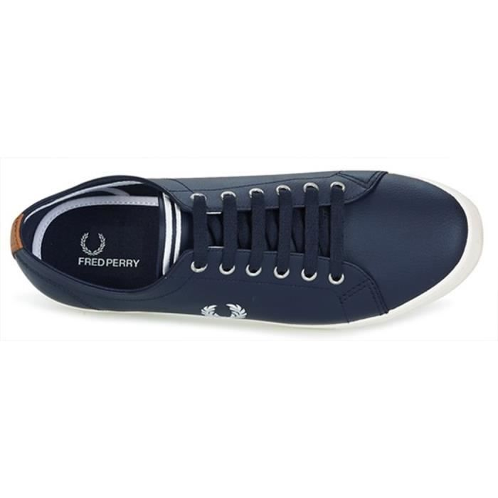 Basket Fred Perry B6237UCuir Marine Yz6cYv