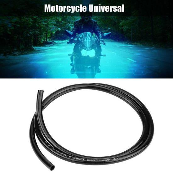 tuyau dessence en caoutchouc de tuyau dessence en caoutchouc universel non tress/é de moto 1m de long noir Tuyau dhuile de moto
