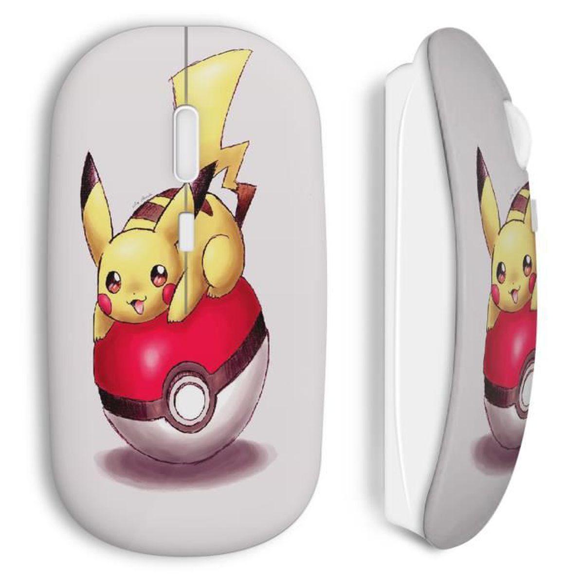 Souris Sans Fil Pikachu Pokeball Pokemon Dessin