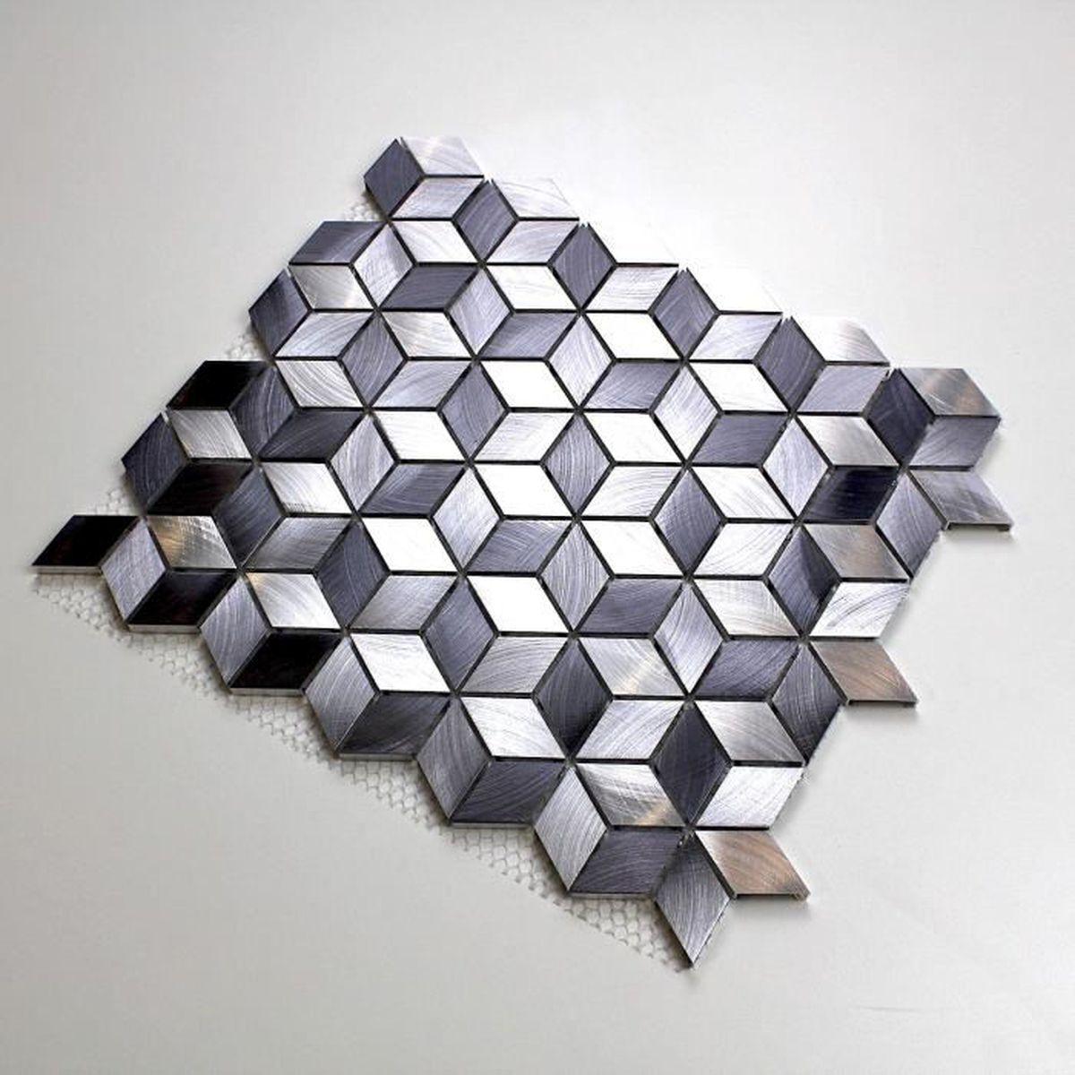 Modele Salle De Bain Avec Mosaique mosaique aluminium sol et mur crédence et salle de bain