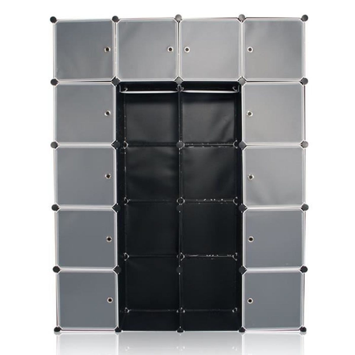 sungle diy armoire plastique noir tag re plastique meuble rangement plasmatique penderie. Black Bedroom Furniture Sets. Home Design Ideas