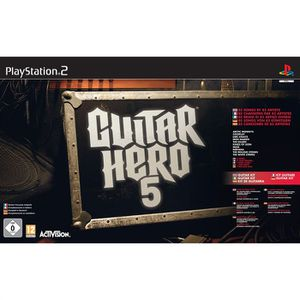 JEU PS2 PACK GUITAR HERO 5 (jeu + guitare) / JEU ET ACCESS