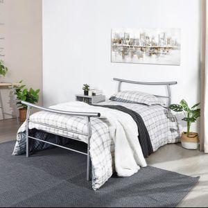 STRUCTURE DE LIT LiePu Lit simple Cadre de lits en métal Pour enfan