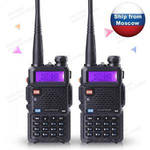 TALKIE-WALKIE 2 Pcs Baofeng Uv - 5r Cb Radio Long Portée  Profes