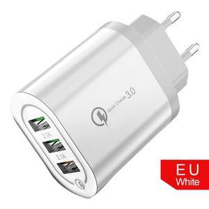 CHARGEUR TÉLÉPHONE Charge rapide de l'UE pour 18W QC 3.0 5V - 2A Char