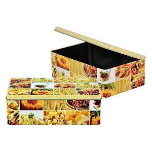 BOITES DE CONSERVATION Boîte à sucre métal décor Pâte
