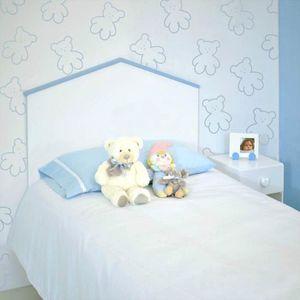 TÊTE DE LIT Bainba - Tête de lit enfant Cabane bleue 90 cm