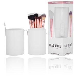 PINCEAUX DE MAQUILLAGE Beau Belle Brosse de Maquillage Pot, Or Rose, 10p