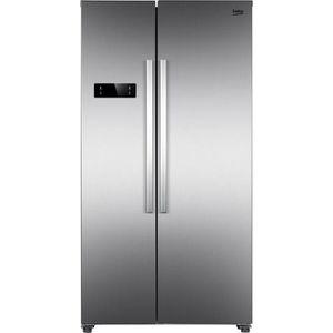 RÉFRIGÉRATEUR CLASSIQUE BEKO - GNO4321XP - Réfrigérateur américain - 436L