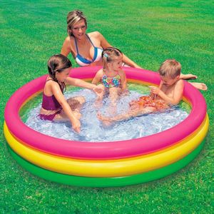 PISCINE Intex - 57412- Piscine 3 Boudins Fond Gonflable