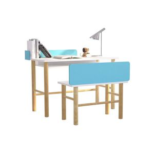 BUREAU BÉBÉ - ENFANT Miliboo - Bureau enfant avec banc bleu et bois cla