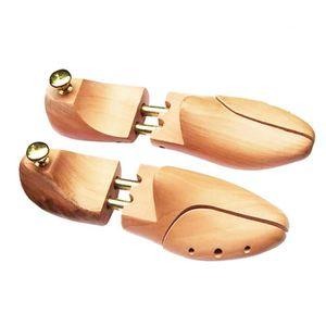 EMBAUCHOIR - TENDEUR Paire d'embauchoirs en bois réglable à chaussures