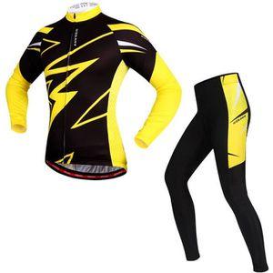 TENUE DE CYCLISME jaune vêtement de cycliste homme. maillot cycliste