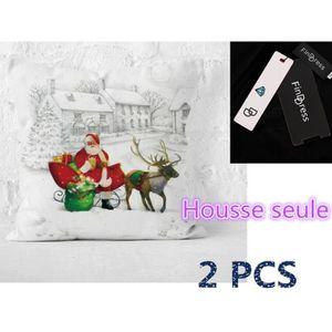 HOUSSE DE COUSSIN FindDress Lot de 2 Housses de Coussin Decoration N