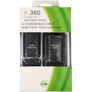 CHARGEUR CONSOLE 4EN1 USB Chargeur + 2 Batteries 4800mAh pour Xbox