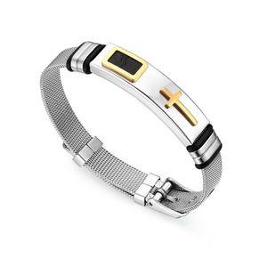 BRACELET - GOURMETTE BRACELET Bracelet en acier inoxydable poli pour ho