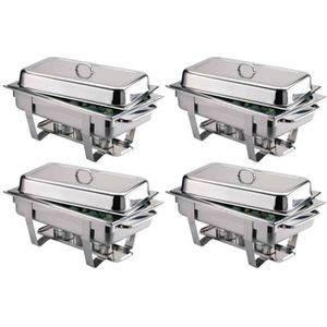 CHAUFFE-PLAT ELECTRIQUE Pack 4 Chafing-dish Milan inox Professionnel