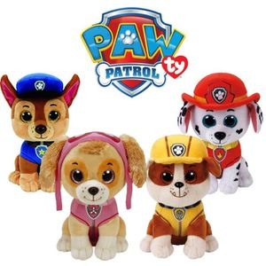 PELUCHE TY Beanie Paw Patrol - Ensemble Chase, Marshall, R