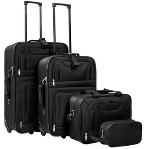 SET DE VALISES TECTAKE Set de 4 Valises avec 2 Valises Trolley, 1