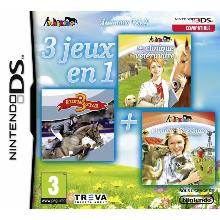 3 jeux en 1 animaux vol 2 dsi achat vente jeu ds dsi animaux vol2 dsi cdiscount. Black Bedroom Furniture Sets. Home Design Ideas