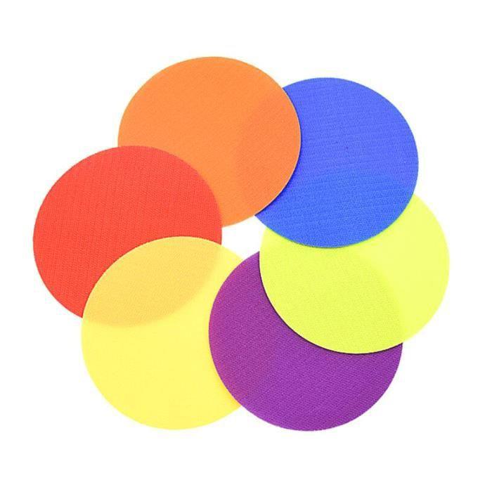 Tapis Jeu de puzzle tag Velcro (12pcs (6 couleurs) 4 -- diamètre 100mm)