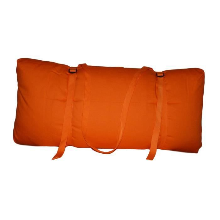 Zabuton Confort Plus 80 x 80 x 12 cm Orange