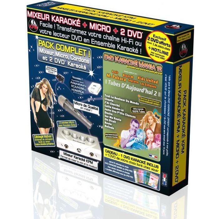 Pack Karaoké KPM Mixeur + 2 DVD + Micro - Tubes D'Ajourd'hui 2