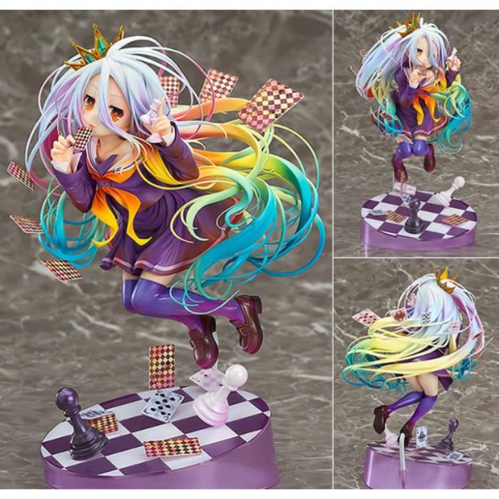 Anime NO GAME NO LIFE Game Life White Poker 1/8 3rd Generation Doll Figure