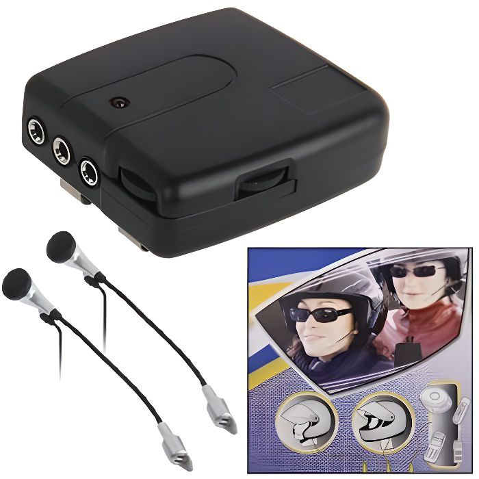 Pack Produit De Confort - Kit 2 pièces Interphone moto (filaire) conducteur + passager