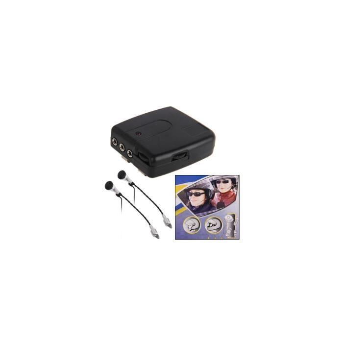Intercom - Kit Communication - Motorcycle Communication - Kit 2 pièces Interphone pour moto (filaire) conducteur + passager (Pack