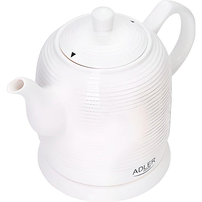 Bouilloire électrique céramique 1,2L AD1280 Blanc