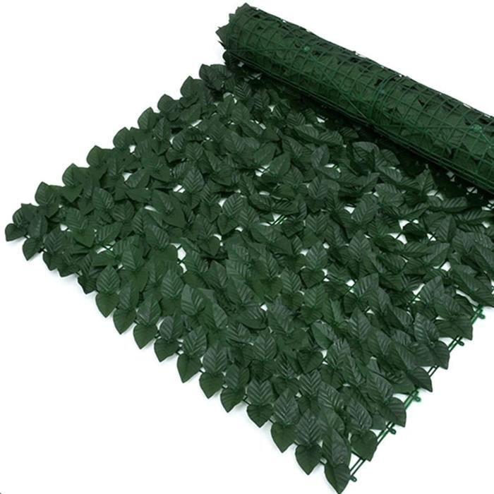 artificielle lierre QIAOH Rouleau De Cl&ocircture en Feuilles Vertes Artificielles 0.5x3m, Rouleau De Haie D'intimit&eacute, p270