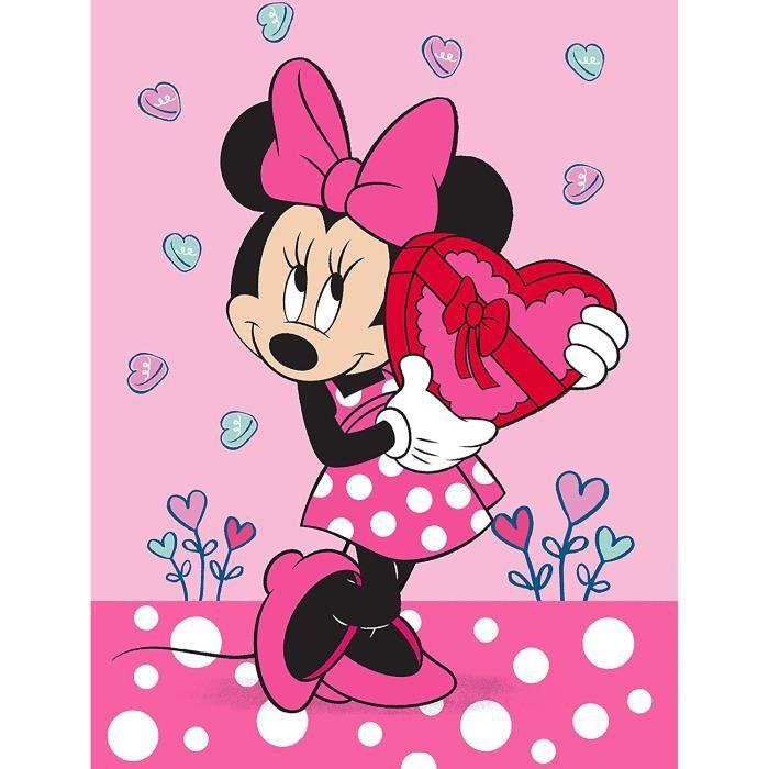 Minnie Mouse Tapis Chambre Enfant Coeur Rose 100cm x 133cm Antideacuterapant AntiBruit Tapis De Jeu Tapis Enfant Tapis De Jeu[9]