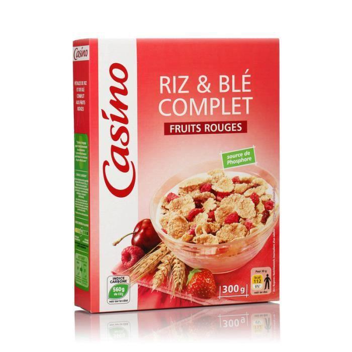 Céréales Riz et blé complet - Fruits Rouges - 300g