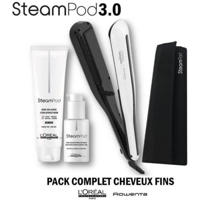 L'Oréal Professionnel Steampod 3.0 Lisseur + Lait Cheveux Fins 150 ml + Sérum 50 ml + Trousse Steampod