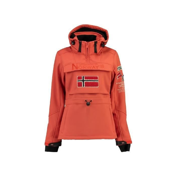 Softshell Femme Geographical Norway Topale Orange