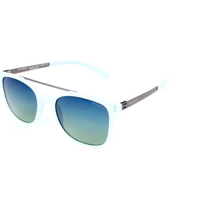Lunettes de soleil Police SPL169 WAGER 1-95QP Bleu pastel - Argent