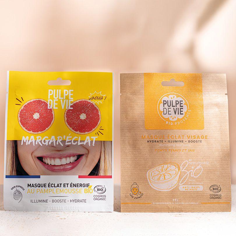Pulpe de Vie MARGAR'ECLAT Masque tissu visage BIO 20ML