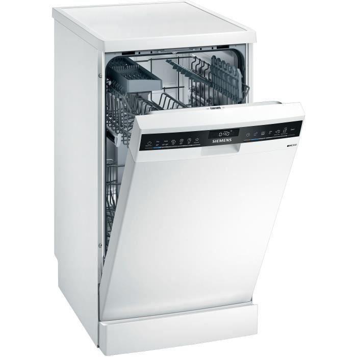 Lave-vaisselle pose libre SIEMENS SR23HW48KE - 9 couverts - Moteur induction - L45cm - 46dB - Connecté - Blanc