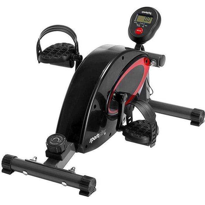 Mini pédalier - SportPlus, Ordinateur d'entraînement, Freinage magnétique, 8 Niveaux de Résistance