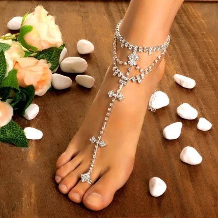 Color : Gold Cha/îne De Pied Pour Femme Bracelet Titane Acier Filles Bracelet Cheville Double Usage Fournaise Plaqu/é Or Rose Amour Double Bracelet