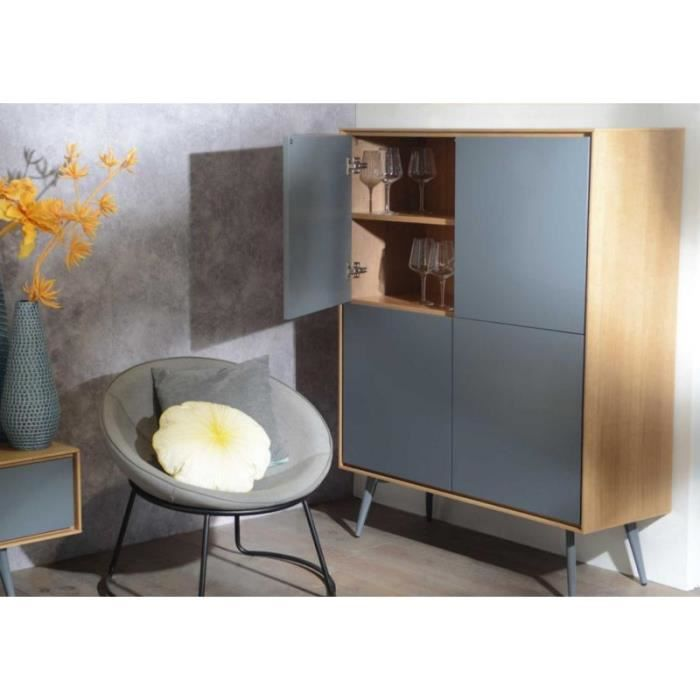 armoire 4 portes scandinave bicolore multicolore achat. Black Bedroom Furniture Sets. Home Design Ideas