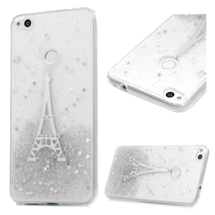 coque huawei p8 lite 2017 transparent paillette