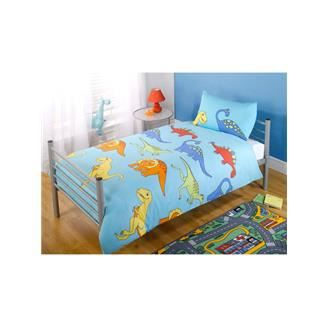 dinosaure parure de couette 1 per lit 90cm achat vente. Black Bedroom Furniture Sets. Home Design Ideas