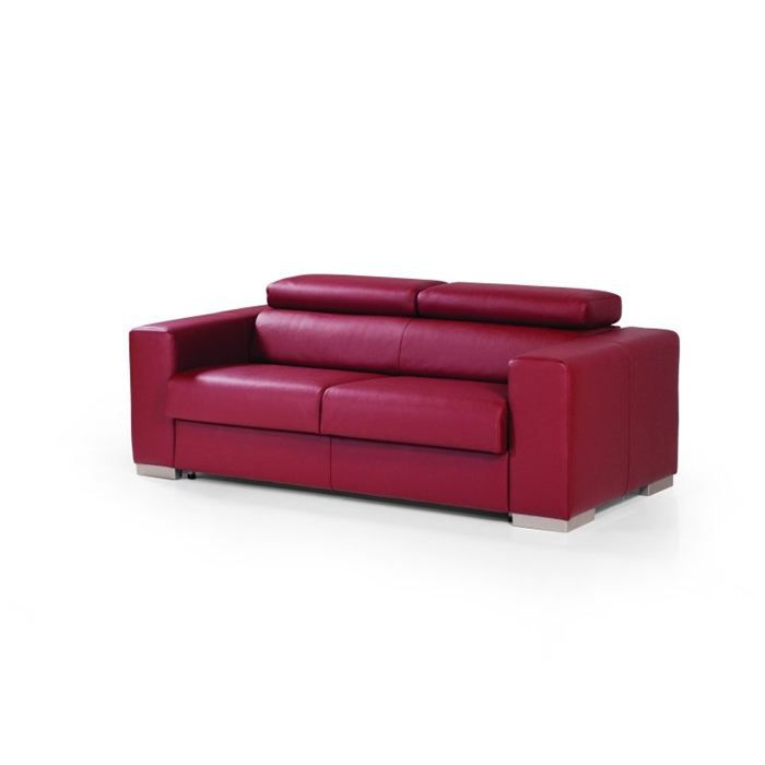 Object moved - Canape cuir bordeaux ...