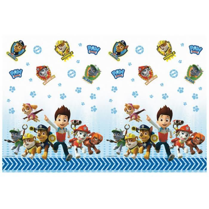 paw patrol nappe papier f te anniversaire pat 39 patrouille. Black Bedroom Furniture Sets. Home Design Ideas