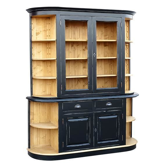 biblioth que en bois massif 11 tag res 2 porte achat vente biblioth que biblioth que en. Black Bedroom Furniture Sets. Home Design Ideas