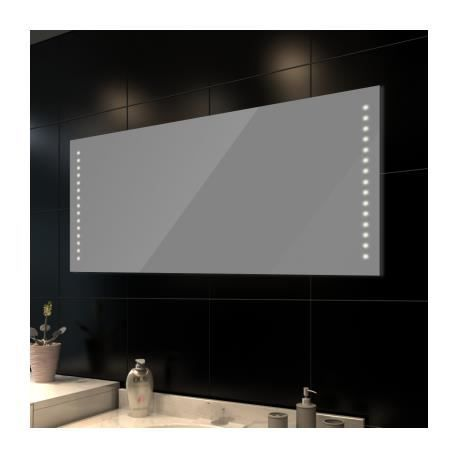 miroir de salle de bain avec clairage led 140 achat. Black Bedroom Furniture Sets. Home Design Ideas